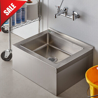 Stainless Steel Commercial Utility Mop Floor Compartment Sink Bowl 25 Nsf List