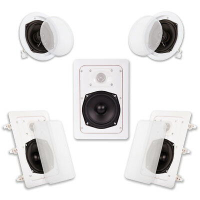 Acoustic Audio HT-55 In Wall In Ceiling 1000 Watt Home Theat