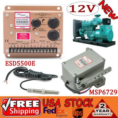 Alternator Generator Governor Actuator Adc120-12v Esd5500e Msp6729 Speed Sensor