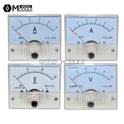Dc 0-30v50v 0-5a10a Analog Panel Amp Meter Voltmeter Gauge 85c1 Gbt7676-98