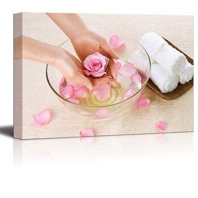 Canvas Prints- Hand Spa/ Beauty Salon Manicure Concept | Wall Decor- 24