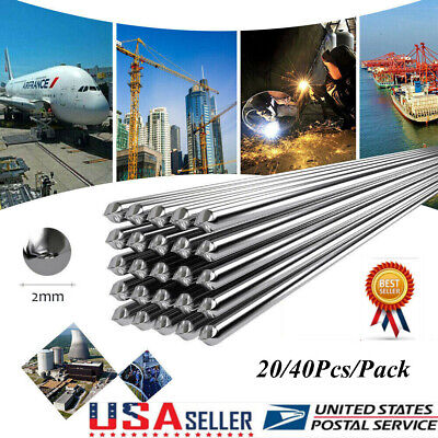 40pcs Low Temperature Aluminum Welding Solder Wire Flux Cored Brazing Repair Rod