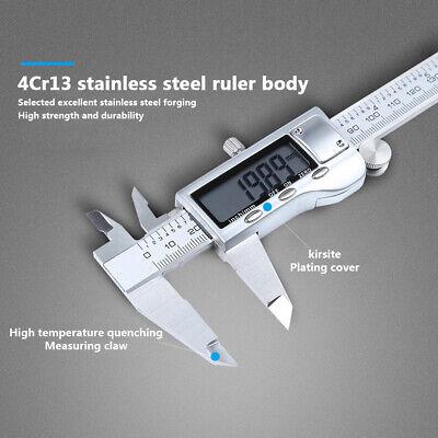 12 In Stainless Steel Digital Vernier Caliper Electronic Gauge Ruler Micrometer