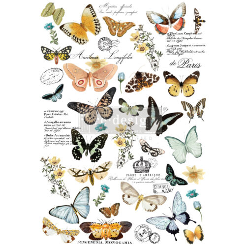 Re-Design with Prima BUTTERFLY DANCE Transfer Home Decor - NEW