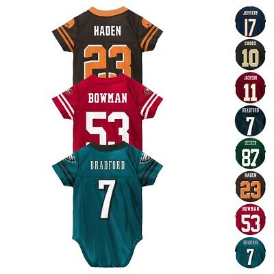 NFL Team Player Creeper Jersey Collection Infant Newborn Size (3-24 -