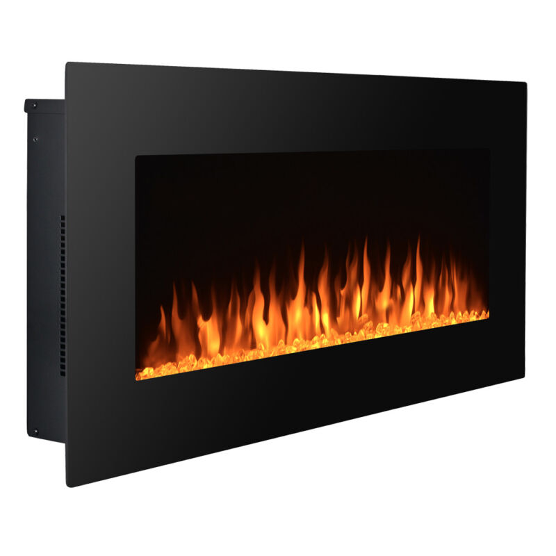 "36"" Wall Mount Electric Fireplace Adjustable MultiColor LED Backlight Heating US"
