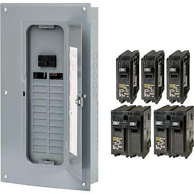 New Square-d 100-amp 24-space 48-circuit Indoor Main-breaker Panel Load-center