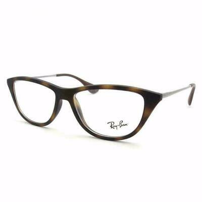 RAY BAN WOMEN MATTE HAVANA CAT EYE AUTHENTIC EYEGLASSES RB 7042 5365 54-14 (Cat Eye Ray Ban Eyeglasses)