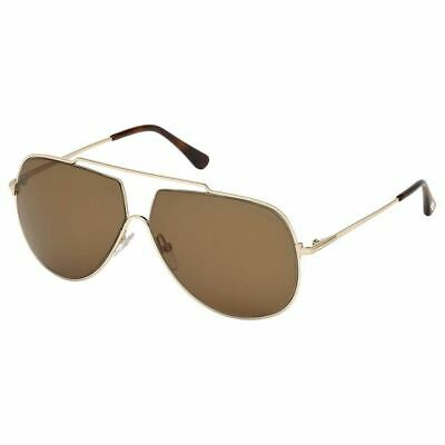 New Authentic Tom Ford Chase Men's Sunglasses w/Brown Lens FT0586 28E