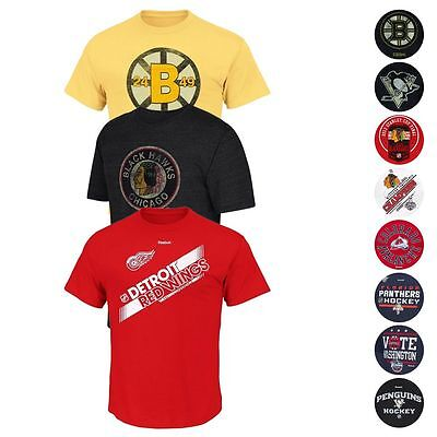 NHL Official Reebok Team Logo Graphic Current & CCM T-Shirt Men's (Nhl Logo Tee)