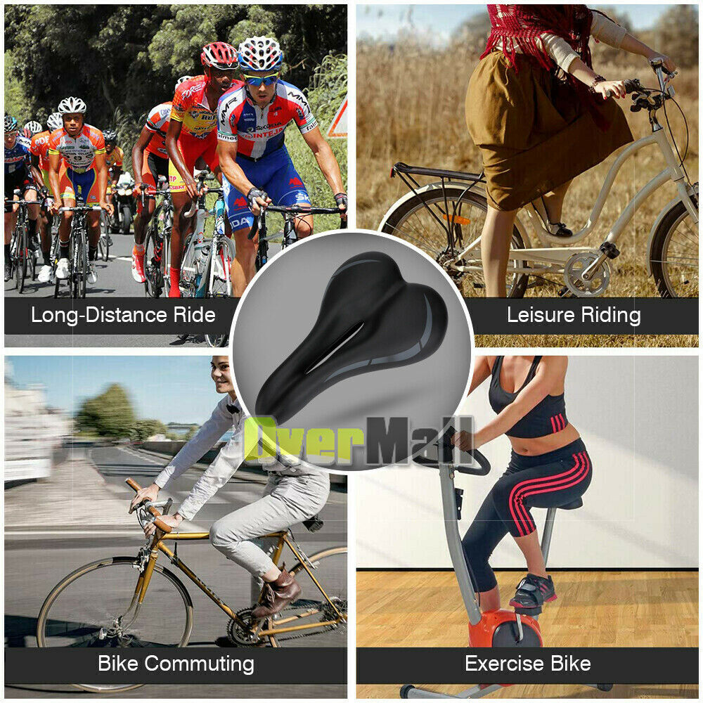 Riding Wide Cruiser Bike Saddle Seat Soft Cushion Pad Breathable Bicycle Seat