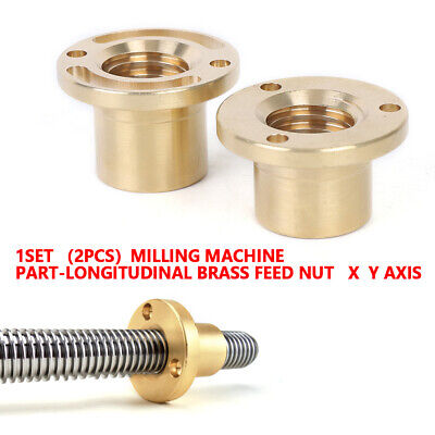 1 Set Of X-axisy Axis Feed Nut Brass Part-longitudinal For Milling Machine Usa