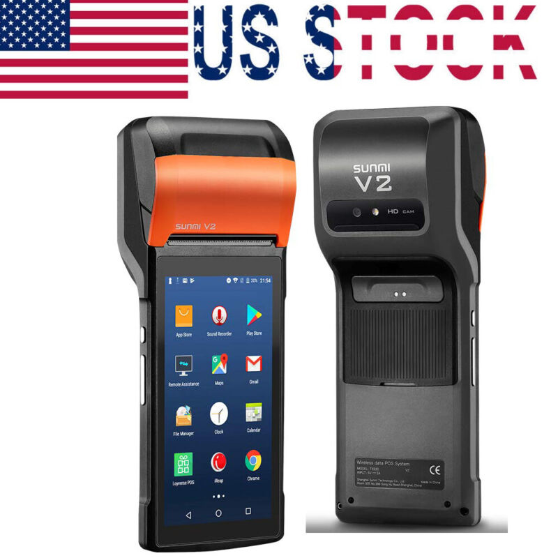 """Handheld POS Printer V2 For Android 7.1 OS With 5.45"""" Touch Support 4G BT WiFi"""
