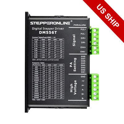 Digital Stepper Motor Driver 1.8-5.6a 20-50vdc For Nema 2324 Stepper Dm556t