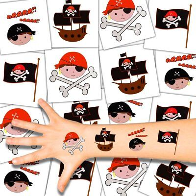 German Trendseller® - Kinder Tattoos - Piraten Set | Piraten Party | Mitgebsel