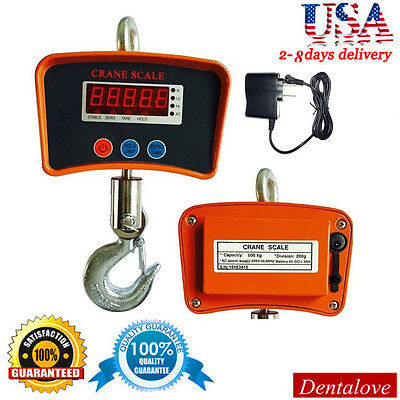 500kg 1100 Lbs High Precision Digital Crane Scale Heavy Duty Hanging Scale Lcd