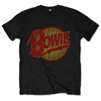 Official David Bowie T Shirt Diamond Dogs Vintage Black Mens Classic Rock Tee