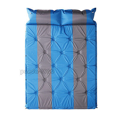 Double 2 Person Self-Inflating Air Mattress Sleeping Pad Outdoor Bed Camping Mat