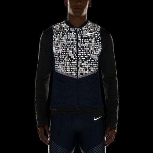 Nike Aeroloft 800 Flash Running Débardeur Sz XL Navy Reflective nouveau 800501 410