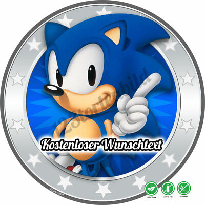 tstag Tortenbild Zuckerbild Oblate Sega Sonic 04 (Sonic Geburtstag)