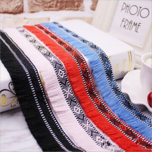 DIY 5 Yards unilateral Tassel lace Jacquard webbing decoration Accessories
