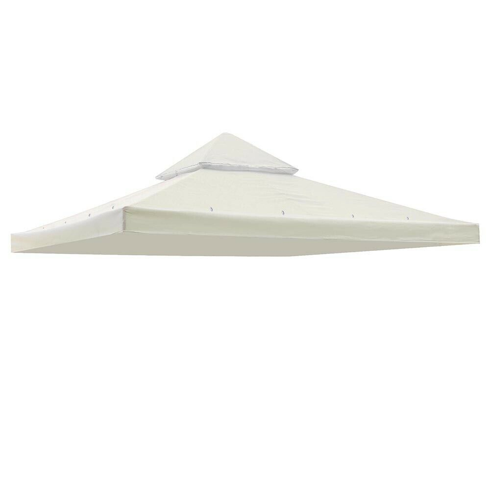 "UV30+ 10""x10"" Gazebo Top Replacement Canopy 2-Tier 297.5cm B"