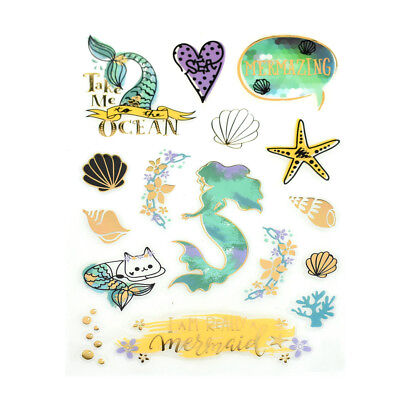 Mermaid Under The Sea Clear Foil Accented Stickers, - Under The Sea Crafts