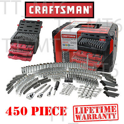 Craftsman 450 Piece Mechanic's Tool Set With 3 Drawer Case Box # 311 254 230