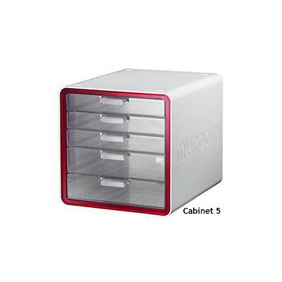 My Room File Cabinet 5 Drawers Red Office Your Life Sysmax 10011