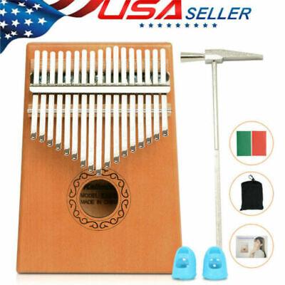 5X 17 Key Kalimba Thumb Piano Finger Mbira Solid KOA Keyboard Musical Instrument
