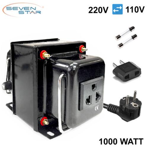 SevenStar THG-1000 UD Watt 220V/110V Step Up/Down Voltage Converter Transformer