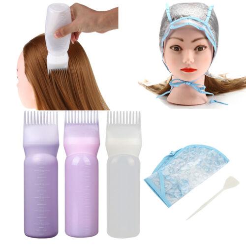 Hair Dye Bottle Hat Applicator Brush Dispensing Salon Hair Coloring Dyeing Set
