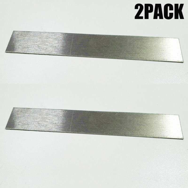 """2PCS Pure Nickel Anode 6"""" x 1"""" Plating Bright Nickel Jewelry Rectifier US NEW"""