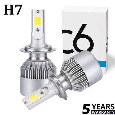 2 x H7 LED Headlight Conversion Kit COB Bulb 110W 26000LM White High Power 6000K