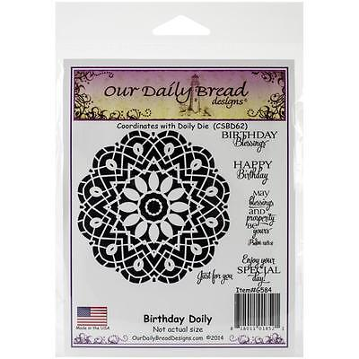 Our Daily Bread Cling Stamps Birthday Doily   New