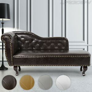 Chesterfield chaise longue day bed ottoman antique relax for Chaise longue day bed