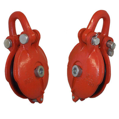3 Ton Working Load Limit Snatch Block Hoist Rig-ging Shackle Pulley Size 4