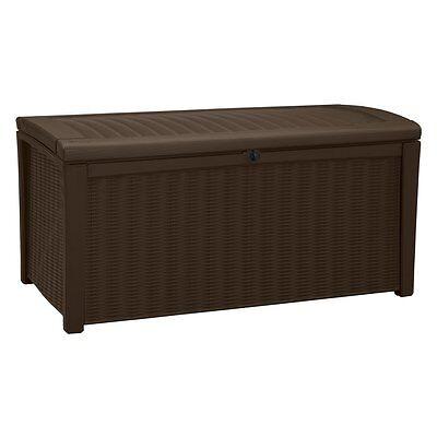 Keter Borneo Rattan 110-Gallon Large Deck Box - 211359 -