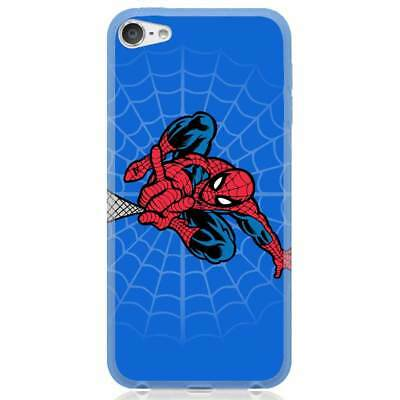 Apple iPhone 6/6S/6 Plus/7/7 Plus/8/8 Plus/X Case Cover Spiderman Webshoot Blue