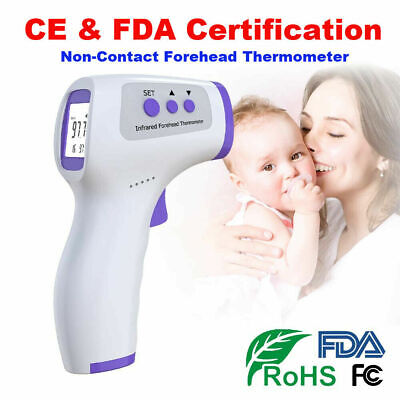 IR Infrared Digital Forehead Fever Thermometer Non-Contact Baby / Adult Body @@