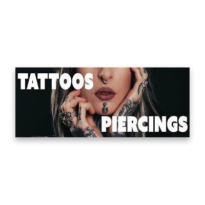 Tattoo Piercings Vinyl Banner Size Options