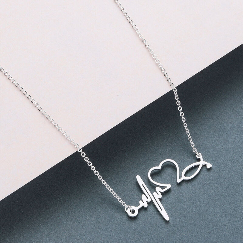 Pendant For Women Wave Lover Gifts Necklaces Ecg Fashion Acc