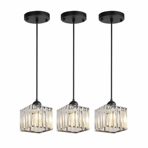 3pcs crystal chandelier kitchen island pendant light