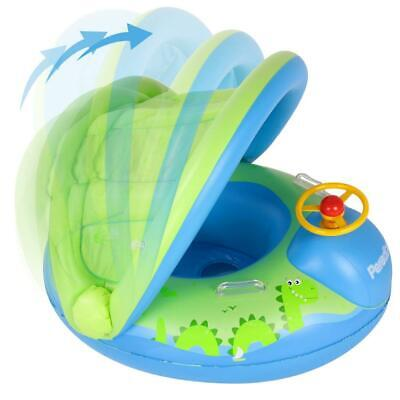 Peradix Piscina Salvagente per Bambini con Tettuccio Mutandina e Blu - Verde