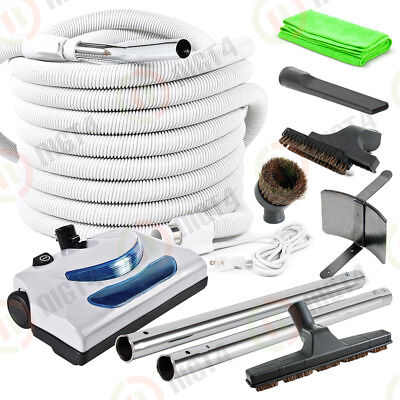 New - Electric Central Vacuum 30' Hose & Power Nozzle Top Quality Tools Set