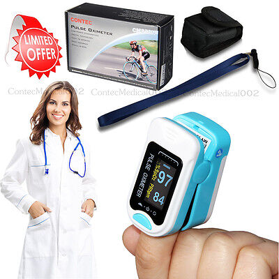 Contec 100 Warranty Finger Pulse Oximeter Spo2 Monitor Blood Oxygen Metercase
