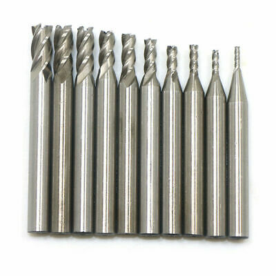 New 5pcs Square Carbide End Mill 4Flute 3//16xX1//2 X3//16X 1-3//4 Steel USA SELL