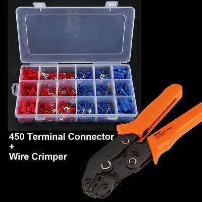 360 Pcs Cable Wire Terminal Connector Hand Ferrule Ratchet Crimper Plier Crimp