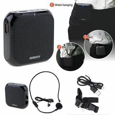 Portable Voice Amplifier Megaphone Waistband Sound Amplifying FM Radio Speaker -