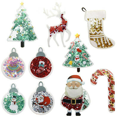 Diy Christmas Projects (10Pcs Christmas Series Quicksand Acrylic Set For DIY Phone Case)